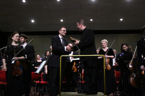 Head of Public Diplomacy and Culture Michael Rauner and Conductor, Antony Hermus